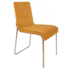 Okrově žlutá jídelní židle DUTCHBONE Flor