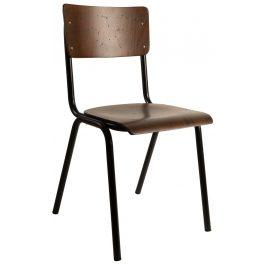 Hnědá jídelní židle DUTCHBONE Scuola