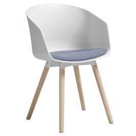 SCANDI Bílofialová dubová jídelní židle Durana