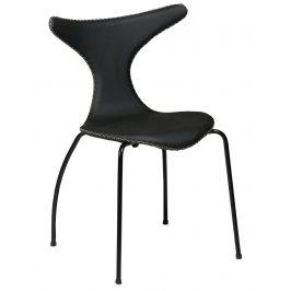 DAN-FORM Černá kožená židle DanForm Dolphin