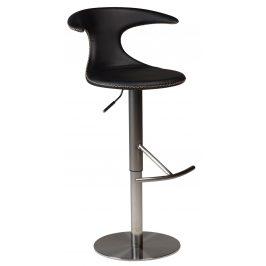DAN-FORM Černá kožená barová židle DanForm Flair