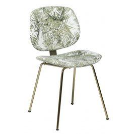 DAN-FORM Sametová jídelní židle DanForm Prime s motivem palmových listů