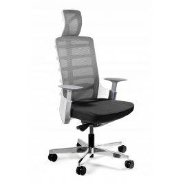 OfficeLab Bílá látková kancelářská židle Spin