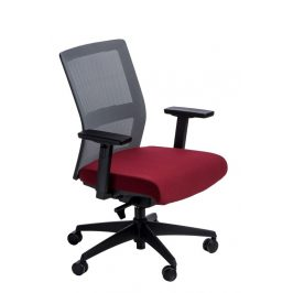 Culty Kancelářská židle Milneo, látka, šedá/červená