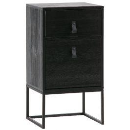 Hoorns Černý dřevěný noční stolek Tason