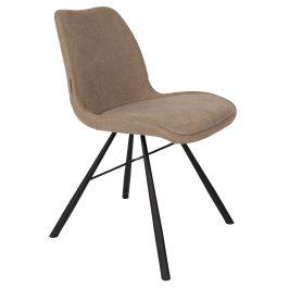 Béžová čalouněná jídelní židle ZUIVER BRENT