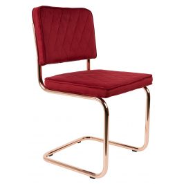 Červená jídelní židle ZUIVER DIAMOND