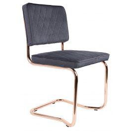 Tmavě šedá jídelní židle ZUIVER DIAMOND KINK