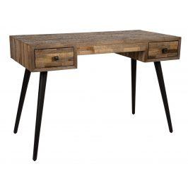 White Label Living Dřevěný kancelářský stůl WLL LEO 118x56 cm