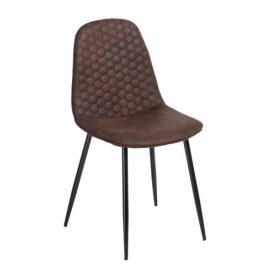 Culty Hnědá čalouněná židle Branda z ekokůže