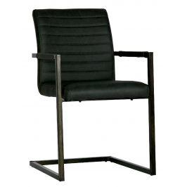 Hoorns Antracitově šedá jídelní židle Jefrey