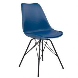 Modrá plastová jídelní židle Nordic Living Marcus