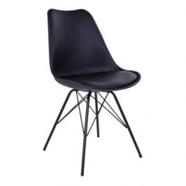 Černá plastová jídelní židle Nordic Living Marcus