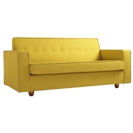 Nordic Design Žlutá čalouněná rozkládací pohovka Tracy 210 cm