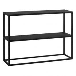 Nordic Design Černý kovový regál Jurni 100x75 cm