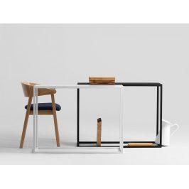 Nordic Design Černý kovový toaletní stolek Jurni 100x30 cm cm