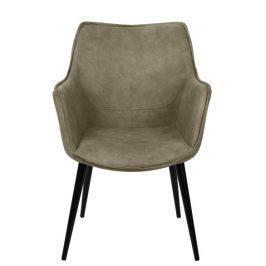 Culty Béžová čalouněná židle Ledea s područkami