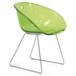 Pedrali Zelená plastová židle GLISS 921