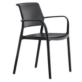 Pedrali Černá plastová jídelní židle ARA 315