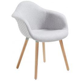 Světle šedá čalouněná jídelní židle LaForma Kenna