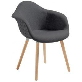 Tmavě šedá čalouněná jídelní židle LaForma Kenna