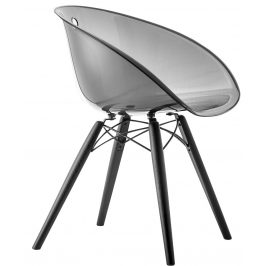 Pedrali Transparentní kouřová plastová židle Gliss 905
