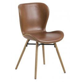SCANDI Hnědá jídelní židle Matylda