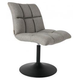 Šedá látková židle DUTCHBONE Mini Bar
