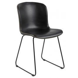 SCANDI Černá jídelní židle Mantra z ekokůže
