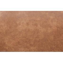 Hoorns Koňakově hnědý taburet Raden z regenerované kůže