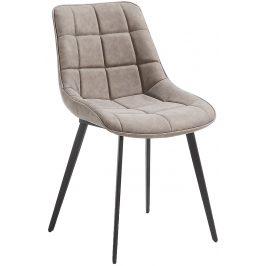 Béžová čalouněná jídelní židle LaForma ADAH