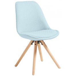 Světle modrá čalouněná jídelní židle LaForma Lars