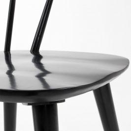Černá dřevěná jídelní židle LaForma Krise