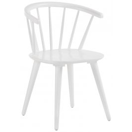 Bílá dřevěná jídelní židle LaForma Krise