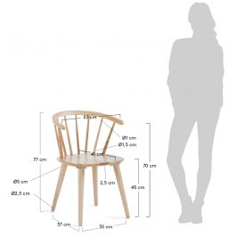 Přírodní dřevěná jídelní židle LaForma Krise