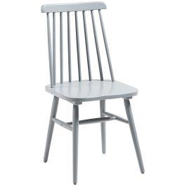 Světle šedá dřevěná jídelní židle LaForma Kristie