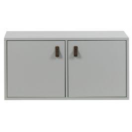 Hoorns Cementově šedá dřevěná skříň Inara M 81 x 35 cm