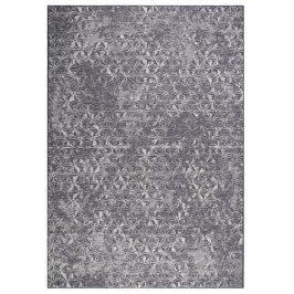 Modrý koberec ZUIVER MILLER 200x300 cm s geometrickými vzory