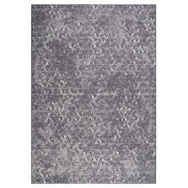 Modrý koberec ZUIVER MILLER 170x240 cm s geometrickými vzory