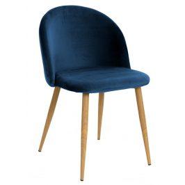 Villa Style Tmavě modrá sametová židle Finest