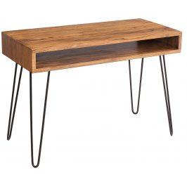 Moebel Living Přírodní masivní pracovní stůl Remus 110 cm