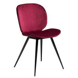 DAN-FORM Červená sametová židle DanForm Cloud
