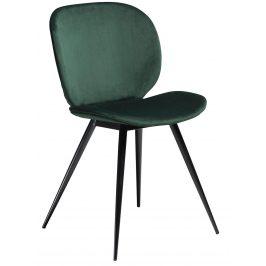 DAN-FORM Zelená sametová židle DanForm Cloud