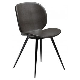 DAN-FORM Tmavě šedá vintage židle DanForm Cloud