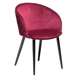 DAN-FORM Růžová sametová židle DanForm Dual