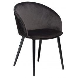 DAN-FORM Černá sametová židle DanForm Dual