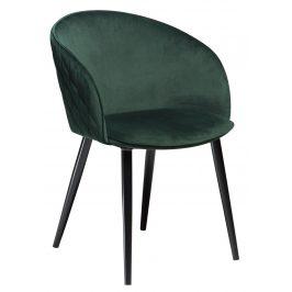 DAN-FORM Zelená sametová židle DanForm Dual
