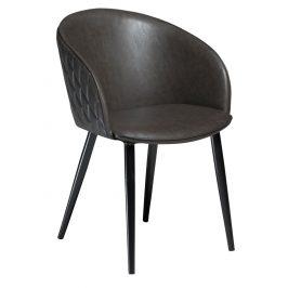 DAN-FORM Vintage šedá čalouněná židle DanForm Dual