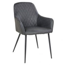 Šedá čalouněná jídelní židle Nordic Living Malvik
