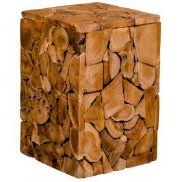 Přírodní dřevěná stolička Nordic Living Birk